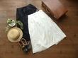 prit 水玉刺繍リネン平織ラップスカート