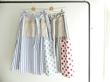 快晴堂(かいせいどう) 水玉とストライプ&オックスフォードプラントスカート