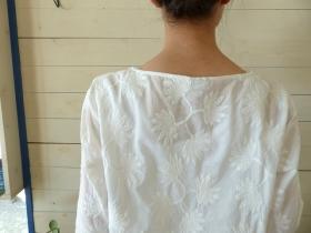 商品「NOMBRE IMPAIR(ノンブルアンペール) frond刺繍6分袖ブラウス」の商品画像
