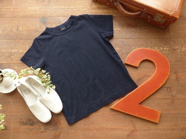 商品「homspun(ホームスパン) インディゴ天竺半袖Tシャツ」の商品画像