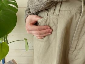 商品「Hands of creation(ハンズオブクリエイション) 強撚コットンギャバテーパードパンツ」の商品画像