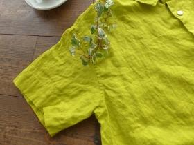 商品「grin(グリン) リネンショートシャツ」の商品画像
