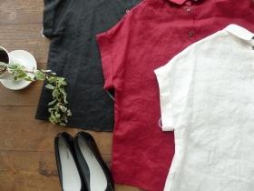 商品「LA MARINE FRANCAISE(マリン フランセーズ) Linen 後ろあきブラウス」の商品画像