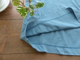 商品「homspun(ホームスパン) 天竺半袖Tシャツ (2)サックス」の商品画像