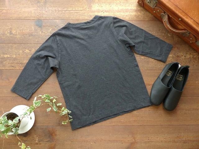 商品「homspun(ホームスパン) 天竺7分袖T (3)TOPダークチャコール」の商品画像