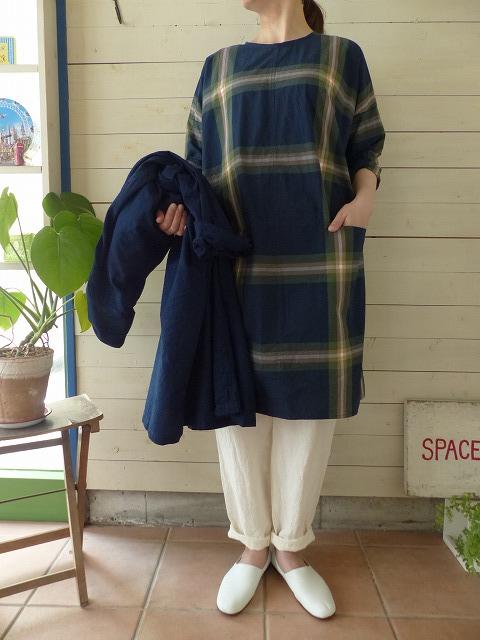 商品「style+confort + SPACEMOO(スティールエコンフォール + スペースムウ) ビッグチェックポケットワンピース」の商品画像
