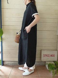 商品「快晴堂(かいせいどう) カラーリネンBIGワンピース」の商品画像