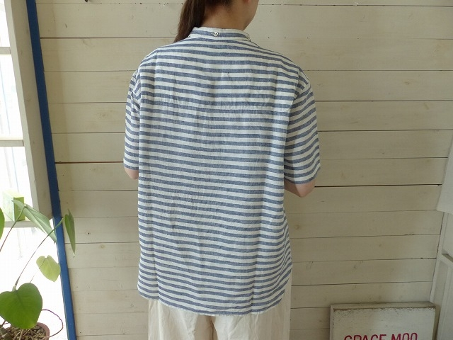 商品「NATIC(ナティック) 先染めボーダーシャツ」の商品画像