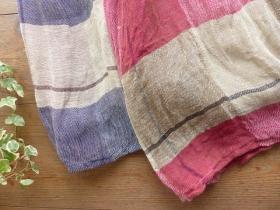 商品「tumugu(ツムグ) リネンチェックフレンチスリーブワンピース」の商品画像