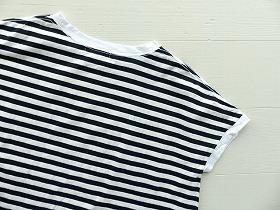 商品「【ご予約カラーあり】NARU 天竺ボーダー×水玉ワイドカットソー」の商品画像