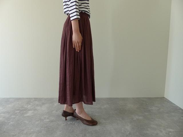 商品「PARLMASEL(パールマシェール) ヴィンテージサテンギャザースカート」の商品画像
