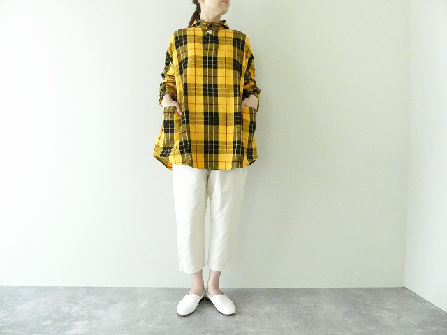 定番プルオーバービッグサイズチェックシャツ