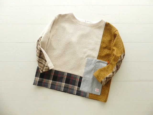 WOOLパッチワーク パッチワークTシャツ