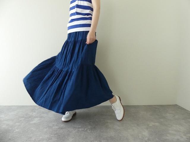 インディゴシャンブレーティアードスカートの商品画像1