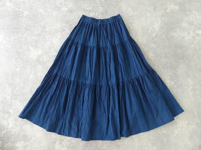 インディゴシャンブレーティアードスカートの商品画像10