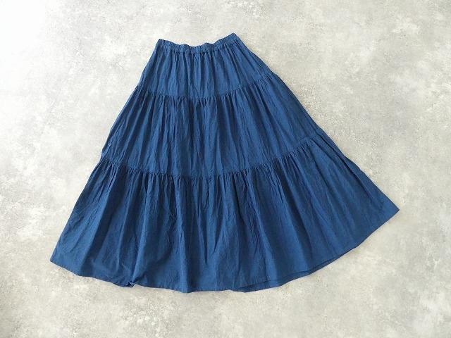 インディゴシャンブレーティアードスカートの商品画像11