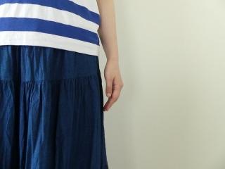 インディゴシャンブレーティアードスカートの商品画像14