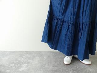 インディゴシャンブレーティアードスカートの商品画像15
