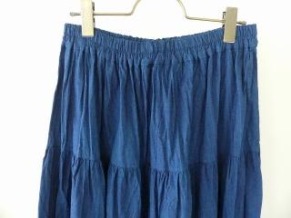 インディゴシャンブレーティアードスカートの商品画像16