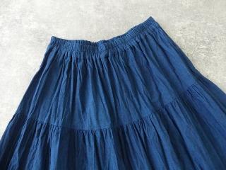 インディゴシャンブレーティアードスカートの商品画像18