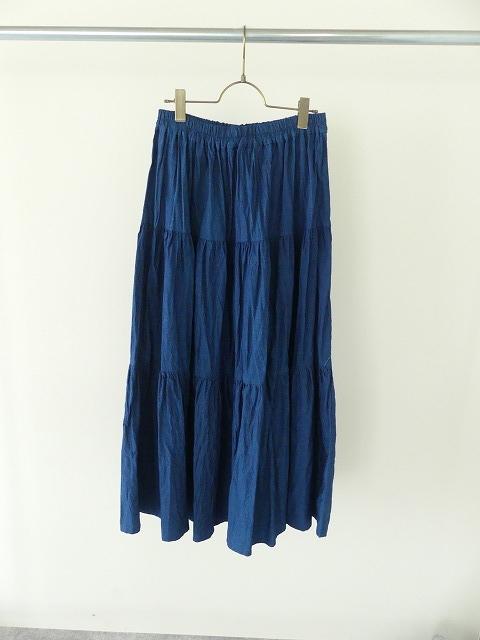 インディゴシャンブレーティアードスカートの商品画像3