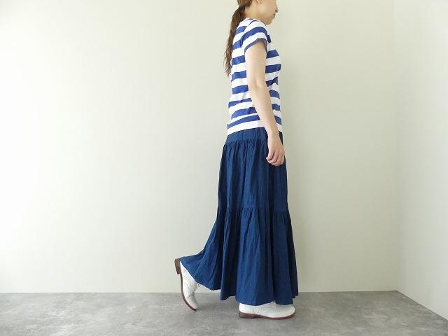 インディゴシャンブレーティアードスカートの商品画像5