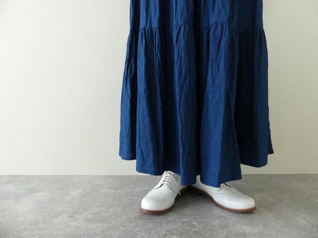インディゴシャンブレーティアードスカートの商品画像6