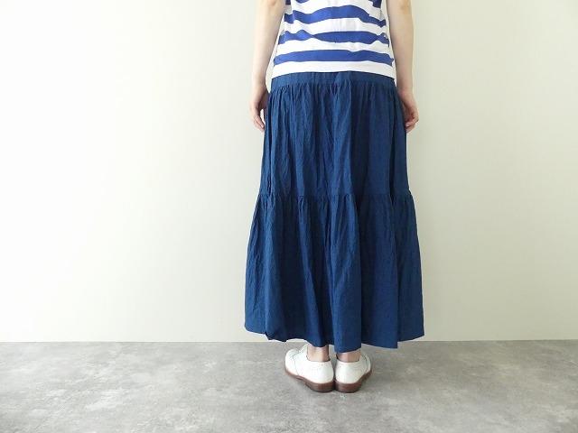 インディゴシャンブレーティアードスカートの商品画像7