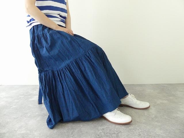 インディゴシャンブレーティアードスカートの商品画像8