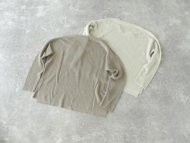 cotton aze VPO コットン畦Vネックプルオーバーの商品画像10
