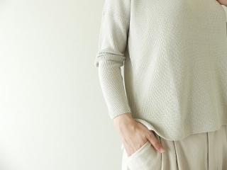 cotton aze VPO コットン畦Vネックプルオーバーの商品画像15