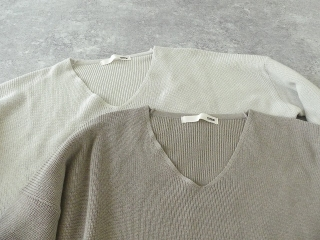 cotton aze VPO コットン畦Vネックプルオーバーの商品画像20