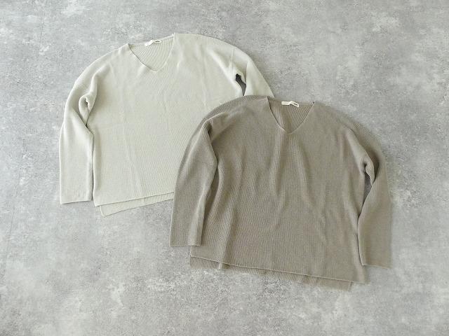 cotton aze VPO コットン畦Vネックプルオーバーの商品画像8