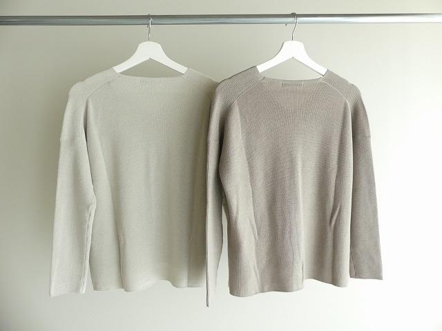 cotton aze VPO コットン畦Vネックプルオーバーの商品画像9
