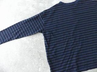リサイクルムラ糸ボーダークルーネックワイドPOの商品画像33