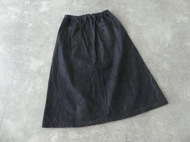 10オンスノットインディゴデニムスカートの商品画像10