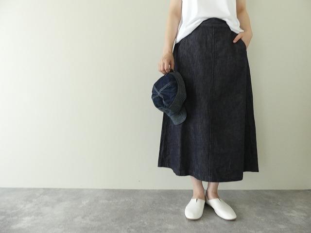 10オンスノットインディゴデニムスカートの商品画像2
