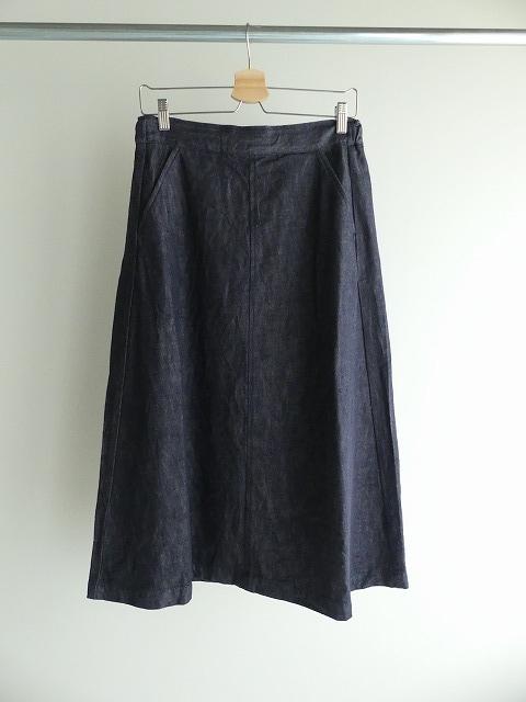 10オンスノットインディゴデニムスカートの商品画像3
