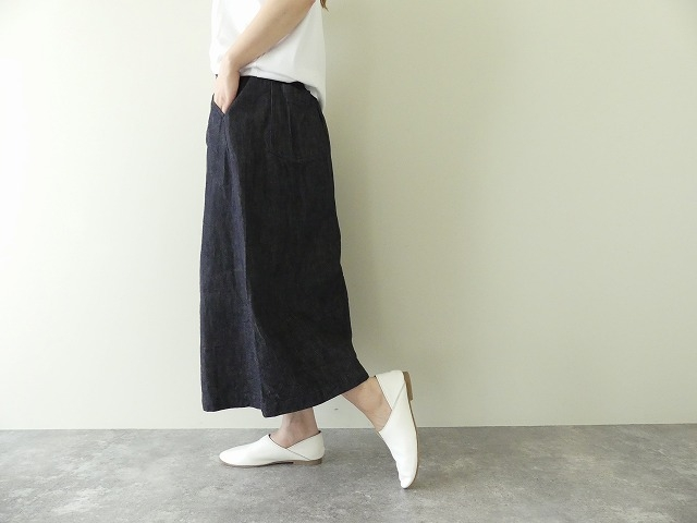 10オンスノットインディゴデニムスカートの商品画像4