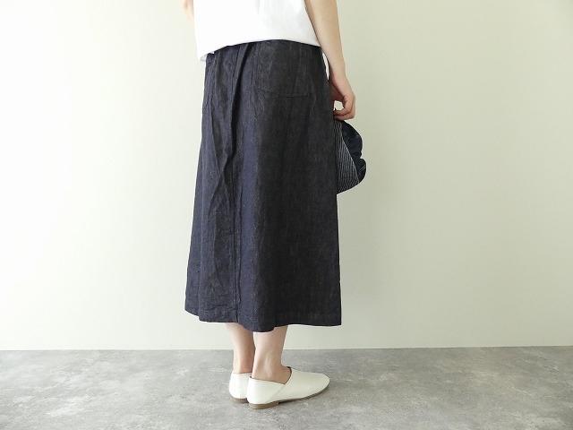 10オンスノットインディゴデニムスカートの商品画像5