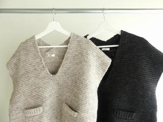 knit vest slub yarn スラブヤーンニットベストの商品画像16