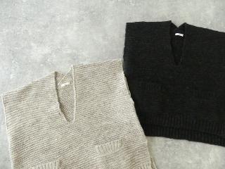 knit vest slub yarn スラブヤーンニットベストの商品画像17
