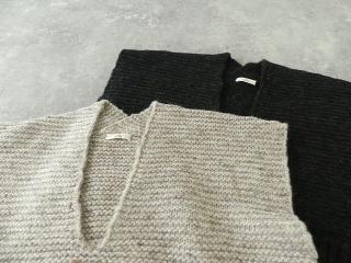 knit vest slub yarn スラブヤーンニットベストの商品画像18