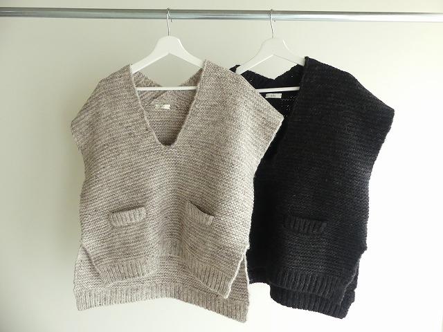 knit vest slub yarn スラブヤーンニットベストの商品画像2