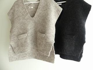knit vest slub yarn スラブヤーンニットベストの商品画像21