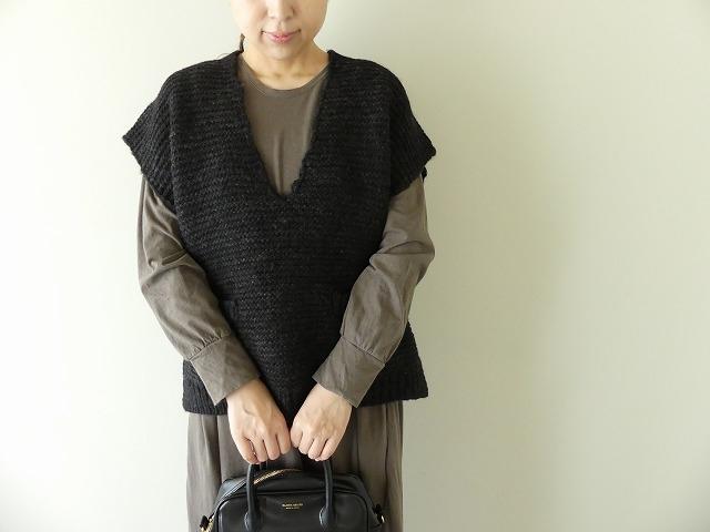 knit vest slub yarn スラブヤーンニットベストの商品画像3