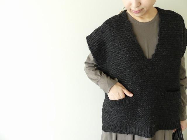 knit vest slub yarn スラブヤーンニットベストの商品画像4