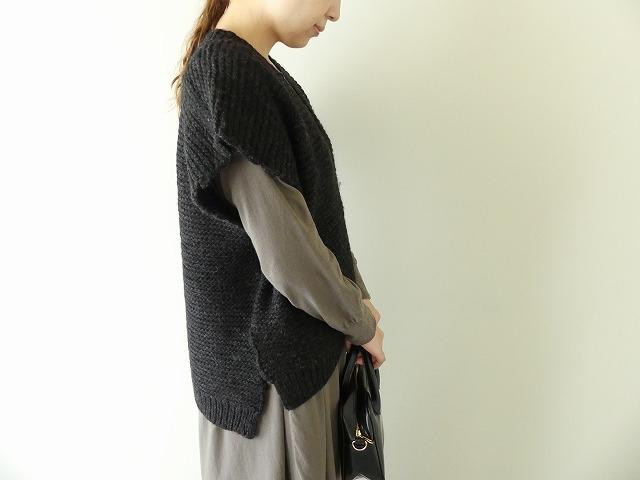 knit vest slub yarn スラブヤーンニットベストの商品画像6
