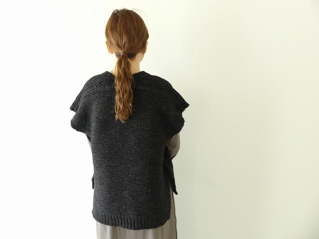 knit vest slub yarn スラブヤーンニットベストの商品画像7