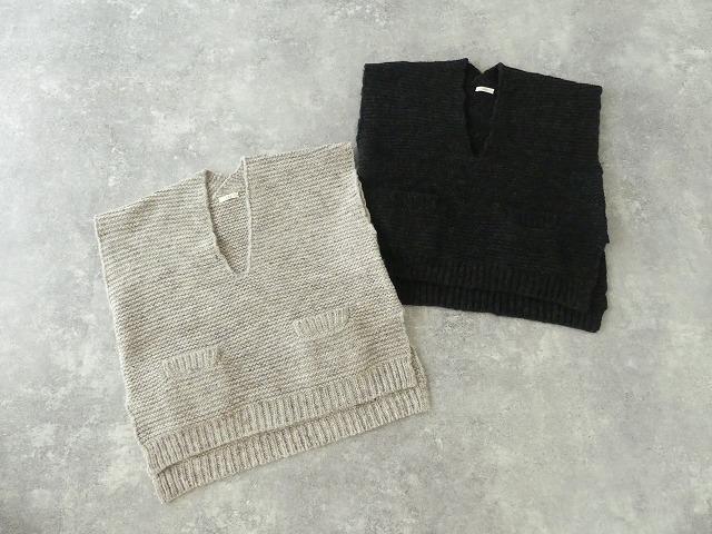 knit vest slub yarn スラブヤーンニットベストの商品画像8